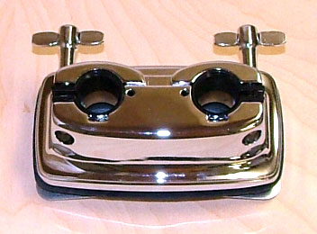 Pearl style bass mount with rubber gasket and mounting hardware