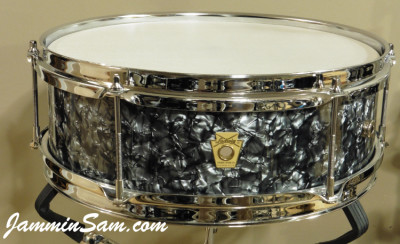 Photo of Wayne VanDenBroeke's Ludwig Pioneer snare e-drum with 80's Black Diamond Pearl drum wrap (3)