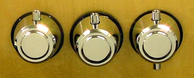 photo of our round drum lugs with gaskets for tom, bass, or snare.