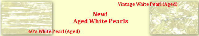 New, Aged White Pearl drum wraps from JamminSam