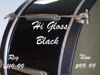 Sale of Hi Gloss Black drum Wrap