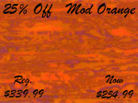 25% off Mod Orange drum wrap