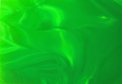 """Scan of Neon Green Satin (6-3/8"""" x 4-3/8"""") drum wrap material"""