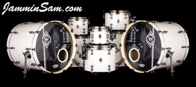 Vintage Pearl White drum wrap on Matt Miller's custom drums (66)