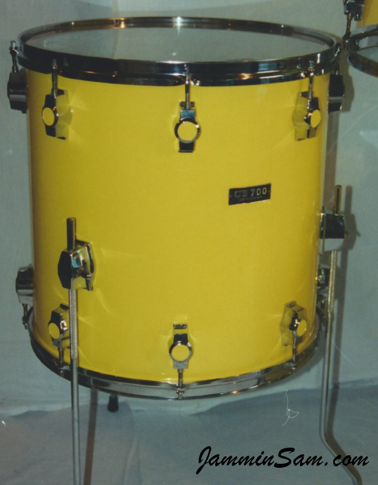 js vintage yellow on drums jammin sam. Black Bedroom Furniture Sets. Home Design Ideas